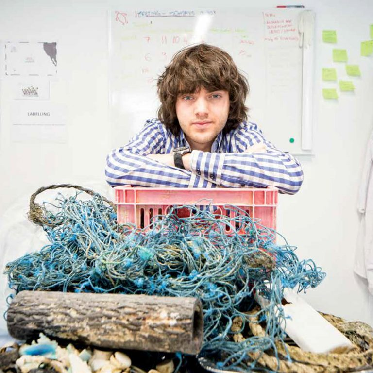 Boyan es el fundador de Ocean clean up