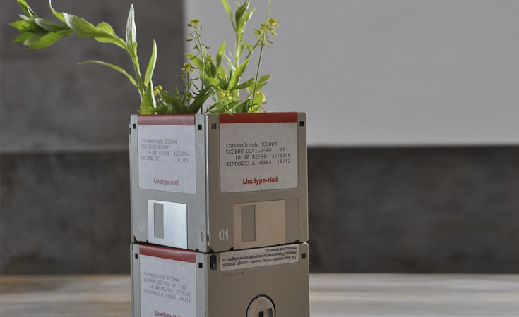 upcycling discos floppy